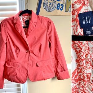 GAP Coral Lined One Button Casual Blazer